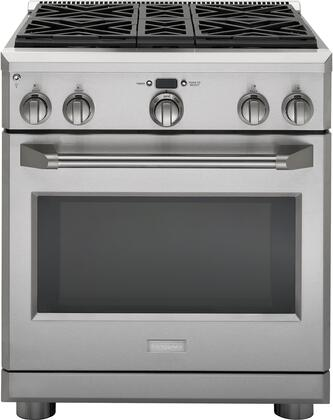 "GE Monogram ZDP304 30"" Dual-Fuel Professional Range With 4 Burners, Authentic Professional Appearance, Monogram Professional Oven System, Reversible Burner Grates & In Stainless Steel"