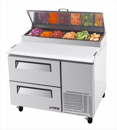 Turbo Air TPR Pizza Prep Table with Drawers, Extra Deep Cutting Board, Excellent Cooling System and Stainless Steel Cabinet Construction