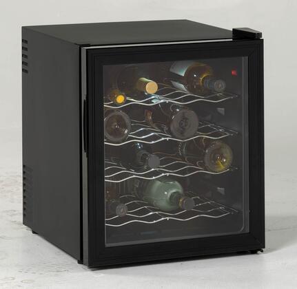 "Avanti EWC1601B 17"" Freestanding Wine Cooler, in Black"