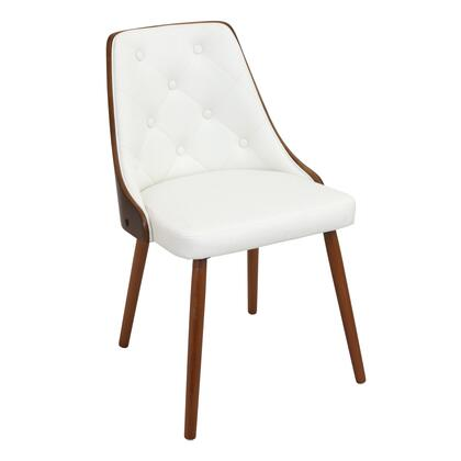 """LumiSource Gianna CH-JY-GNN WL 31"""" Chair with Fabric Upholstery, Button-Tufted Backrest and Walnut Frame in"""