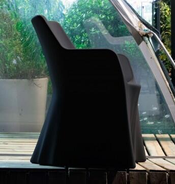Domitalia PHANTOMP000PEAN Phantom Series  Plastic Frame  Patio Chair