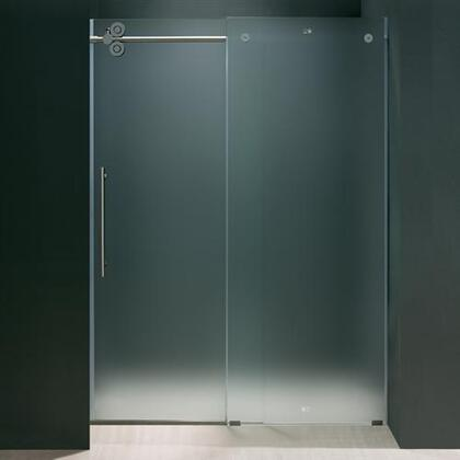 "Vigo VG6041XXMT6074L 60"" Frameless Shower Door 3/8"" Frosted Glass with X Left Hardware"