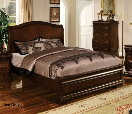 Furniture of America Brunswick CM7503X Bed with Transitional Style, Platform Bed, Slat Kit Included, Solid Wood and Wood Veneer in Dark Walnut