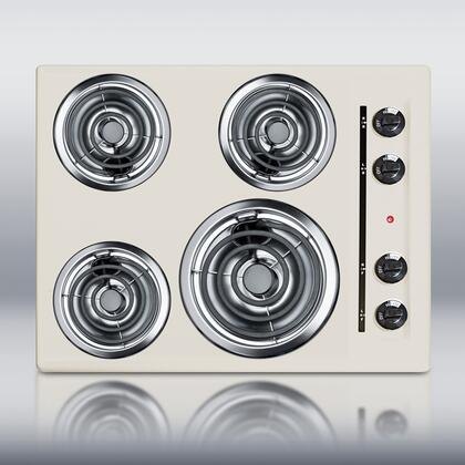 """Summit SEL03 24""""  Bisque 4 Element Electric Cooktop"""