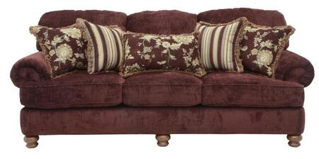 "Jackson Furniture Belmont Collection 4347-03- 96"" Sofa with Chenille Fabric Upholstery, Reversible Box Welted Seat Cushions and Five Pillows in"