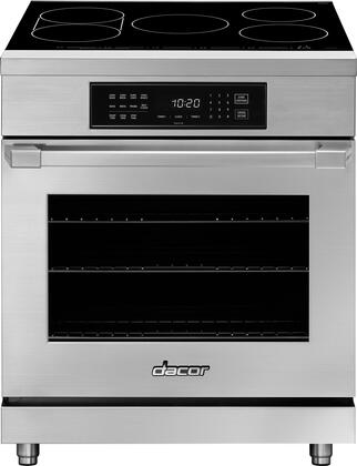 Dacor Hipr30s Heritage Series 36 Inch Stainless Steel Induction Electric Convection Freestanding Range