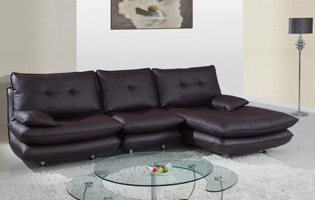 Global Furniture USA 36133pcSectional  Leather Sofa