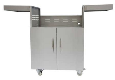 Coyote C Series CCXCT Grill Cart for C-Series Grill with Premium Stainless Steel Construction, Self Closing Door Hinges, Industrial Lockable Casters, and Easy Fold Down Shelving in Stainless Steel