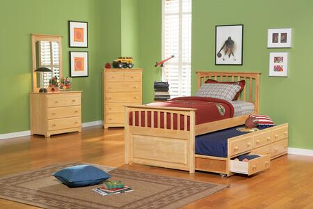 Atlantic Furniture MAT3TNMTW  Twin Size Panel Bed