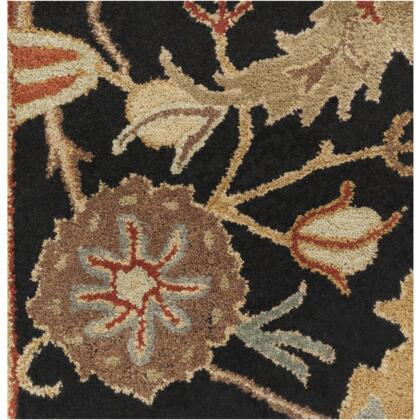 Surya A154 Ancient Treasures Ink Handmade Area Rug Made with 100% Semi-Worsted New Zealand Wool and Made in India