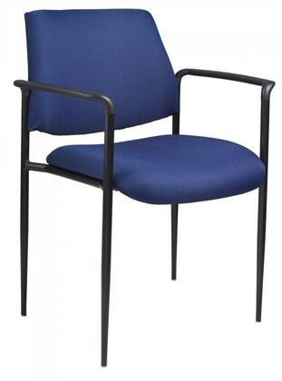 """Boss B9503 31"""" Contemporary Square Back Diamond Stacking Chair with Arms, Powder Coated Steel Frames, Tapered Legs, Molded Arm Caps, and Waterfall Seat"""