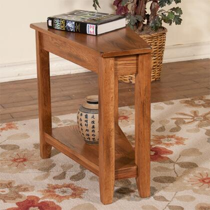 Sunny Designs 2226RB Transitional Wood Wedge None Drawers End Table
