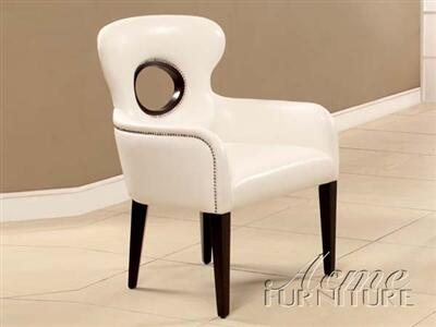 Acme Furniture 15053 Odo Series Faux Leather Wood Frame Accent Chair
