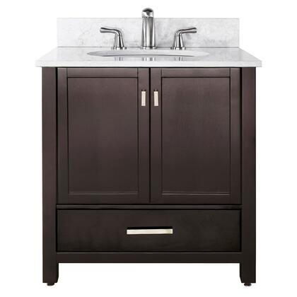 "Avanity MODERO-V36-X Modero 36"" Vanity Only, with Two Soft Close Doors, One Soft Close Drawer, and Adjustable Height Levelers"