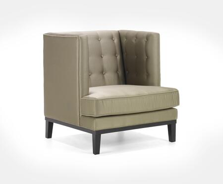 Armen Living LC10061X Noho Armchair with Contemporary Style, Button-tufting Detail and Sating Fabric Upholstery in