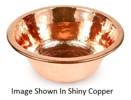 D'Vontz BP0001L20 Plain Hammered Copper Round Bar Sink With 77% Recycled Copper, 99% Pure Copper & In