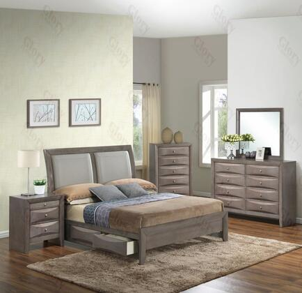 Glory Furniture G1505DDFSB2DMN G1505 Full Bedroom Sets