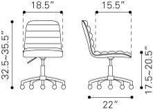 """Zuo 205711 23.60"""" Modern Office Chair"""