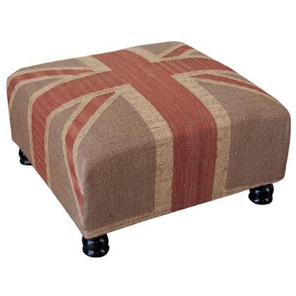Home Trends & Design MTN10607UJE Traditional Jute Ottoman