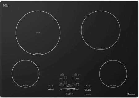 "Whirlpool GCI3061XB 30"" Gold Series 4 Element Yes Cooktop, in Black"
