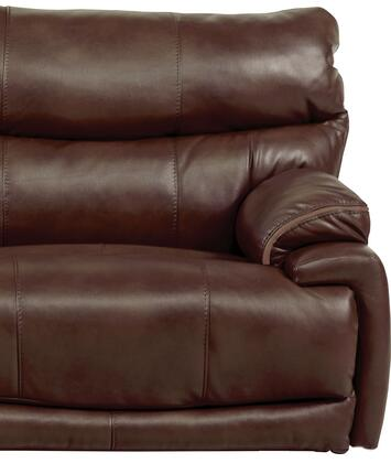 "Catnapper Larkin Collection 1390-7 50"" Lay Flat Recliner with Faux Leather Upholstery and Pub Back Design in"