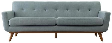 "EdgeMod Mari Collection 89.76"" Sofa with Removable Seat Cushion, Mid Century Style, Cherry Rubberwood Legs, Kiln Dried Solid Wood Frame and Fabric Upholstery in"