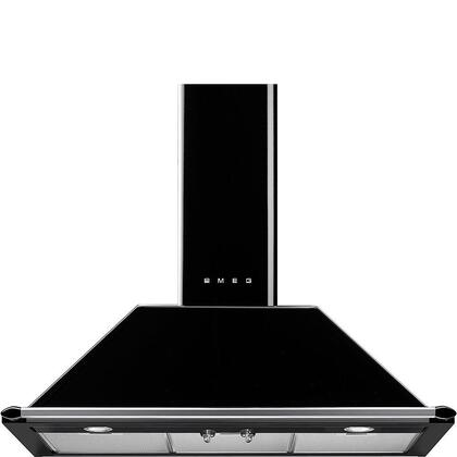 """Smeg KT90PUx 36"""" Victoria Wall Mount Chimney Range with Exclusive Traditional Design, Stylish Ergonomic Control Knobs, Variable Four Speed Fan, Dishwasher-Safe Grease Filters and 600 CFM ,in"""