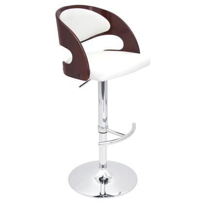 """LumiSource Pino BS-JY-PN 37"""" - 42"""" Barstool with Hydraulic Adjustable Height, 360 Degree Swivel and Footrest in"""