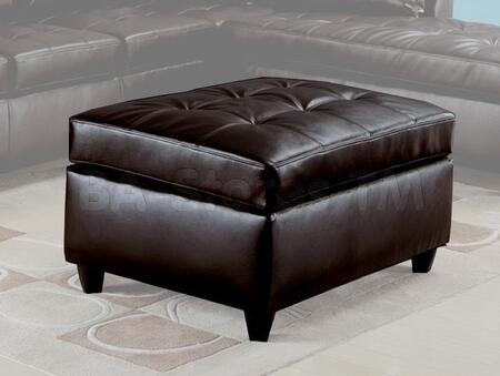 Acme Furniture 15213 Milano Series Contemporary Bonded Leather Wood Frame Ottoman