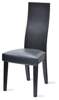 VIG Furniture VGGUESCAPEBLKCHAIR Modrest Escape Series Modern Veneers Frame Dining Room Chair