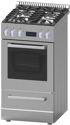 "Avanti DGRxP3S 20"" and 24"" Gas Range with Sealed Burner, Cast Iron Grates, Waist High Broil,in Stainless"