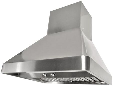 Kobe RAX95 Wall Mount Range Hood with 1200 CFM Internal Dual Blower, 3 Speeds, Rotary Control, LED lights and Stainless steel Professional Baffle Filters: Fits Ceiling Height