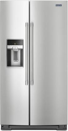 "Maytag MSC21C6MxZ 36"" Side by Side Counter-Depth Refrigerator with 21 cu. ft. Capacity, LED Lighting, External Water and Ice Dispenser, in"