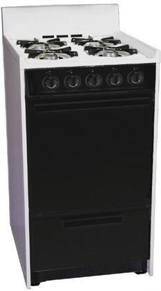 Summit WLM110CHJ  Gas Freestanding Range with Open Burner Cooktop, 2.46 cu. ft. Primary Oven Capacity, Broiler in White