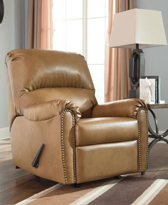 Signature Design by Ashley Lottie DuraBlend 3800X25 Rocker Recliner with Divided Back Cushion, Rolled Arms and Nail-Head Accents in