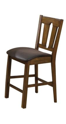 Acme Furniture 00846 Morrison Series Transitional PU Leather Wood Frame Dining Room Chair