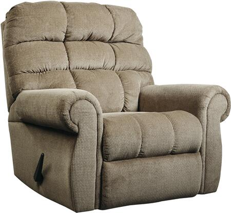 Signature Design by Ashley 7471125 Edger Series Contemporary Fabric Metal Frame  Recliners