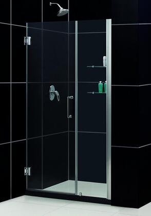 DreamLine SHDR-20387210S Unidoor Frameless Hinged Shower Door With Self-Closing Solid Brass Wall Mounted Hinges (5 Degree Offset), Reversible For Right or Left Door Opening & In