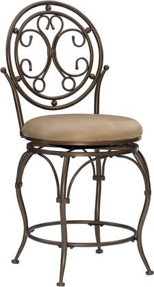 Powell 586A Big and Tall Scroll Circle Back Barstool