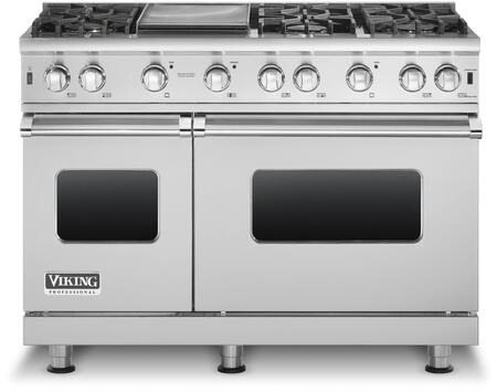"""Viking VGCC5486G 48"""" Professional 5 Series Natural Gas Range with 6 Sealed Burners and Griddle, VariSimmer Setting and SureSpark Ignition System, in"""