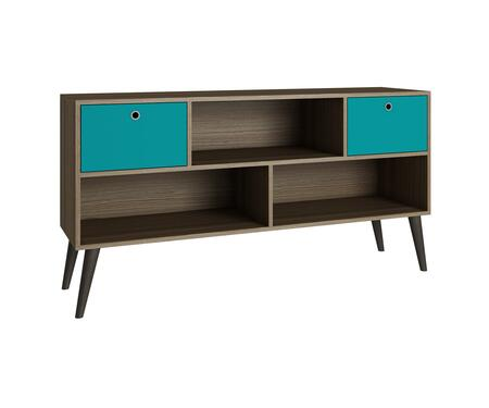 "Accentuations Uppsala Collection 4AMC1XX 53"" 3-Shelve TV Stand with Splayed Legs and 2 Drawers in"