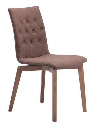 "Zuo 10007 Orebro 35"" Dining Chair with Tapered Legs and Button Tufting in Polyblend"