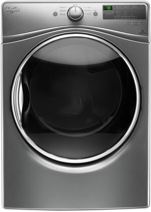 "Whirlpool WED85HEFx 27"" Electric Dryer with 7.4 cu. ft. Capacity, Advance Moisture Sensing System, EcoBoost Option, Sanitize Cycle and Quick Dry Cycle, in"