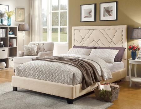 Furniture of America CM7433BGEKBED Mirianne Series  Platform Bed