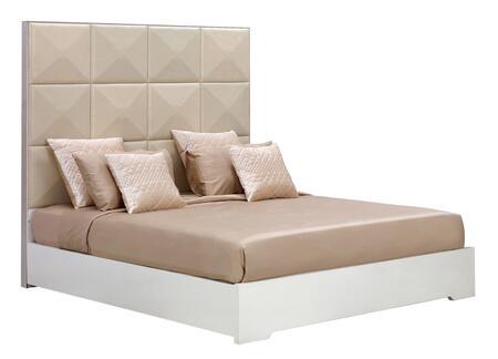 VIG Furniture VGWCTEM8C004AWHITEEK Temptation Ariel Series  E King Size Platform Bed