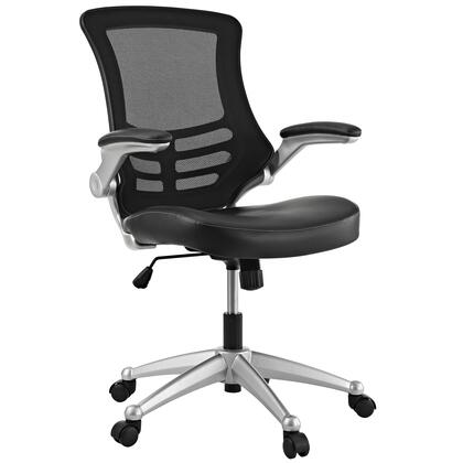 """Modway EEI-210 Attainment 20"""" Office Chair with Adjustable Height, Flip-Up Padded Arms, Seat Tilt with Tension Control, Breathable Mesh Back, and Dual-Wheel Casters"""