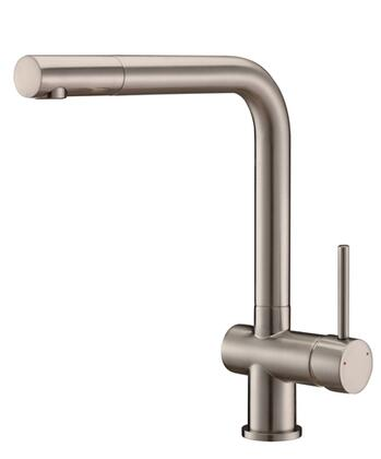 Ruvati RVF1235 Cascada Single Handle Kitchen Faucet in Stainless Steel Finish