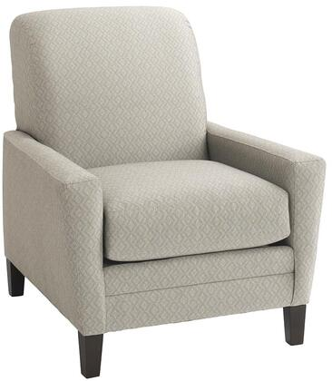 """Bassett Furniture Drake Collection 3923-12FC/FC155-X 34"""" Chair with Fashionable Canted Arm, Top Stitch, Box Seat Cushions, Sharp Base Border"""