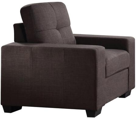 "Acme Furniture Platinum III Collection 36"" Chair with Removable Tufted Cushions, Pocket Coil Seating, Wide Track Arms, Solid Wood Frame and Linen Fabric Upholstery in"