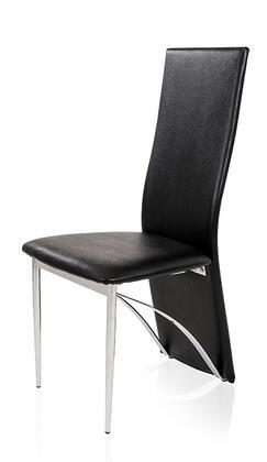 VIG Furniture VGBNCY86BLK Modrest Series Modern Metal Frame Dining Room Chair